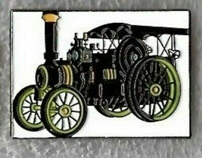 Traction Engine Pin Badge. Steam Tractor. Burrell. Black Version. Metal. Enamel. • 1.75£