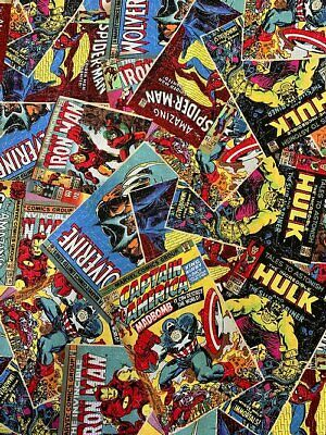 £7.75 • Buy Marvel Comic Book Covers - Fabric Material