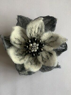 Hand Made - Large Needle Felted Flower Brooch. Unique And Original. Free P&P • 10£