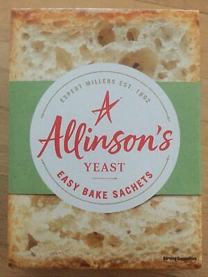 Quick Yeast Fast Action Instant Bread Making Hand Baking 6x7g Allinsons Sachets • 3.99£