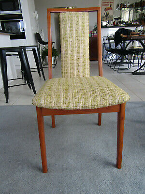 AU290 • Buy 4-vintage Retro Danish Style Teak Dining Chairs - Mid Century