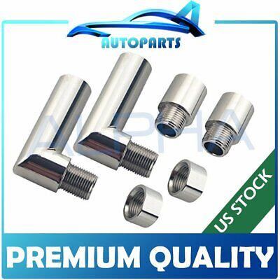 $23.95 • Buy 2x O2 Oxygen Sensor Angled Extender Spacer 90 Degree 02 Bung Extension M18 X 1.5