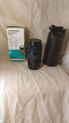 Hanimex SLR Camera Lens HMC Series 80-200mm F/4.5-22 Vintage • 9.99£