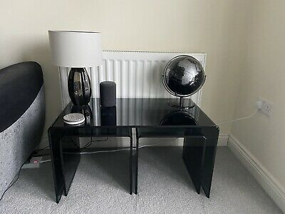 Black Glass Nest Of Tables • 175£