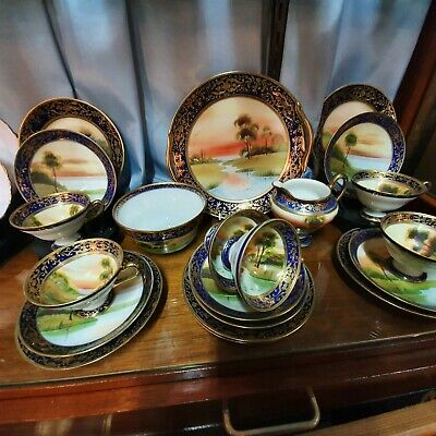 Stunning Hand Painted And Gilded Noritake Nippon Tea Set • 450£