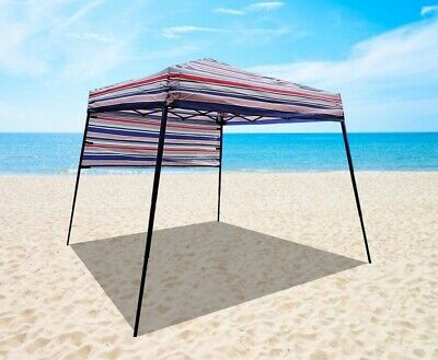 AU125 • Buy Marquee Striped Beach Camping Gazebo Tent Sun Shelter Compact Backpack Carry Bag
