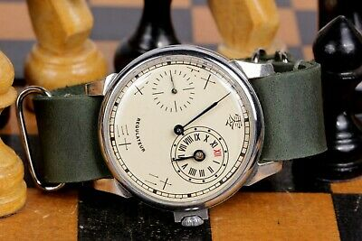 Vintare Regulator Wristwatch Chinese Numerals Mechanical Leather Strap • 123.89£
