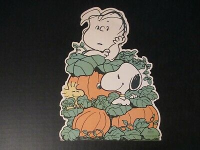 $ CDN29.24 • Buy Snoopy Great Pumpkin Vintage Halloween Die Cut Peanuts Hallmark Paper Cutout