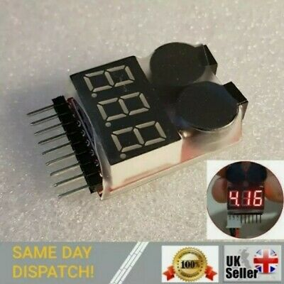 £3.95 • Buy RC Car Lipo Battery Low Voltage Alarm 1S-8S Checker LED Tester