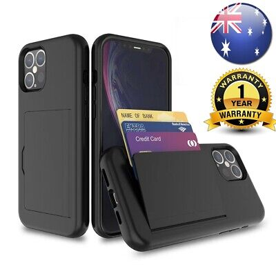 AU9.95 • Buy HEAVY DUTY Case Armor Wallet Card Slots Holder Cover IPhone 11 12 Samsung S20 FE