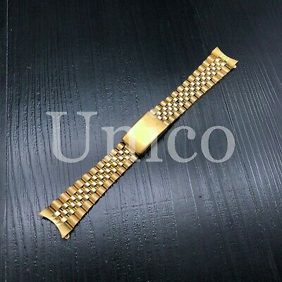 $ CDN41.75 • Buy 19mm Jubilee Watch Band For Rolex Date 1500 1550 Oyster Perpetual Gold Color