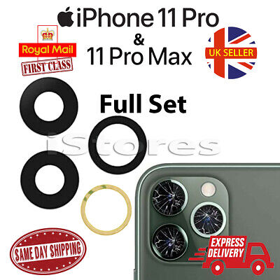 £2.49 • Buy IPhone 11 Pro & 11 Pro Max Replacement Rear Back GLASS Camera Lens Cover Part