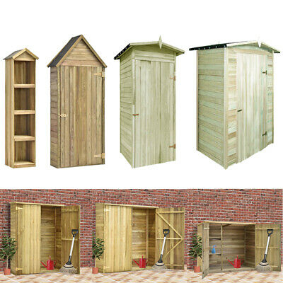 Outdoor Garden Shed Wooden Tool Storage Utility Cabinet Shelves Many Types New • 176.99£