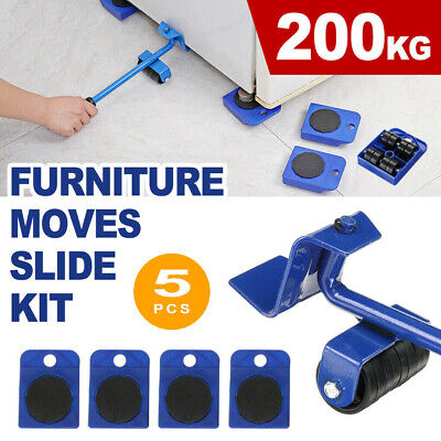 AU16.98 • Buy 5PCS Heavy Furniture Shifter Lifter Wheels Moving Slider Mover Kits Move Removal