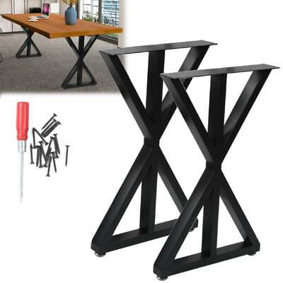 Set Of 2 Metal Table Bench Legs Frames Retro Industrial Rustic Steel Base Stands • 65.99£