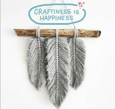 £17.95 • Buy MACRAME 3 FEATHERS KIT Craft Project Wall Hanging Quality Gift UK Starter Kit