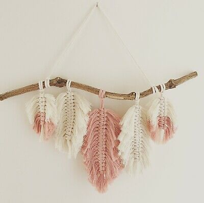 £24.95 • Buy MACRAME 5 FEATHERS KIT Craft Project Wall Hanging UK Gift Quality Starter Kit