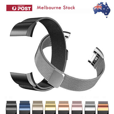 AU8.90 • Buy Fitbit Charge 2 Band Stainless Steel Milanese Loop Metal Wristband Watch Strap