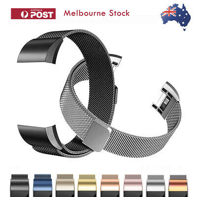 AU11.88 • Buy Fitbit Charge 2 Band Stainless Steel Milanese Loop Metal Wristband Watch Strap