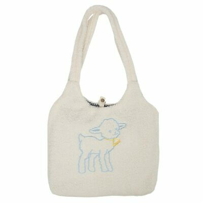 Womens Lamb Like Fabric Shoulder Bag Canvas Tote Large Capacity Embroidery Bags • 13.87£