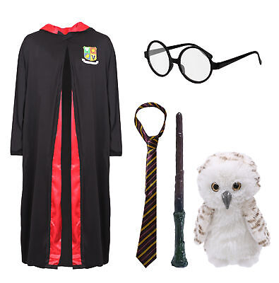 $ CDN33.50 • Buy Kids Wizard Costume School World Book Day Owl Glasses Magic Wand Tie