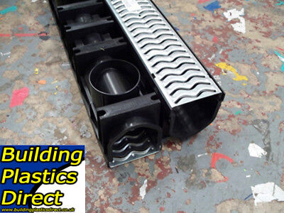 £39.50 • Buy  Heavy Duty A15 GALVANIZED Channel Drainage Grating 1 Metre 1m Length