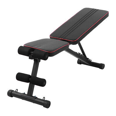 Foldable Gym Bench Weight Exercise Fitness Bench Adjustable Full Body Workout • 58.99£