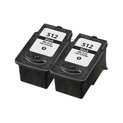 £33.31 • Buy Remanufactured Ink For Canon Pixma IP2700 IP2702 MP230 MP235 PG-512, 2-Black