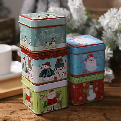 Large Capacity Christmas Candy Tin Box Children Sweets Box Christmas Decoration • 3.24£