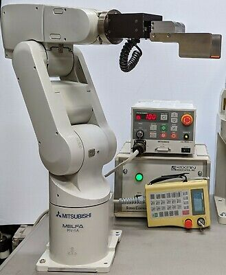 6 Axis Mitsubishi RV-1A Robot System, Clean, Working, W/Teach Pendant, See Video • 5,524.66£