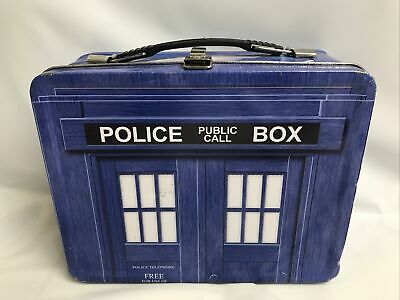 £10.68 • Buy BBC Doctor Who TARDIS Lunch Box Tin - Vintage Collectible 1996 - Used Worn