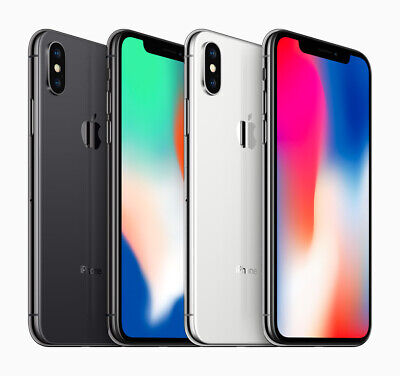 AU439 • Buy APPLE IPHONE X 64GB 256GB BLACK WHITE UNLOCKED IN BOX EXCELLENT CONDITION