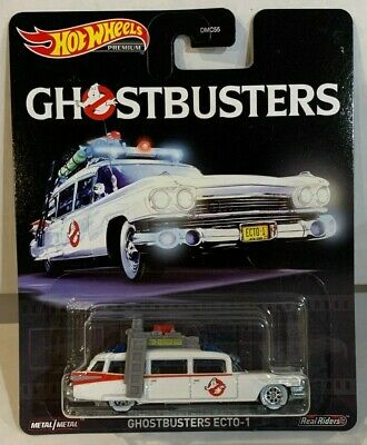 Hot Wheels Premium 2020 Pop Culture Ghostbusters Ecto-1 W/White Wall Real Riders • 15.47£