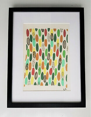 Sonia Delaunay-Silk Fabric-Compositions Planche 40-Signed-Framed • 256.76£