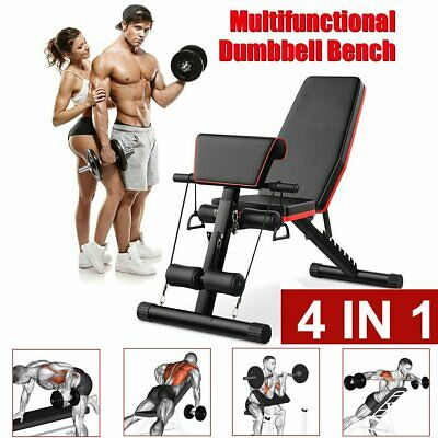 Adjustable Weight Bench Fitness Home Training Gym Utility Exercise Bench Press • 58.84£