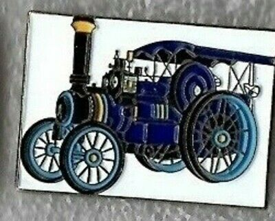 Traction Engine Pin Badge. Steam Tractor. Burrell. Blue Version. Metal. Enamel. • 1.75£