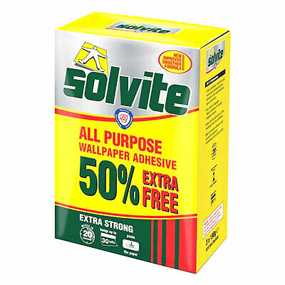 Solvite All Purpose Wallpaper Adhesive 3 185g 10 Roll Packets Extra Strong • 7.98£