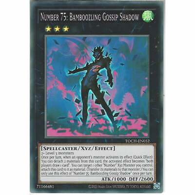 TOCH-EN052 Number 75: Bamboozling Gossip Shadow Unlimited Super Rare YuGiOh Card • 1.10£