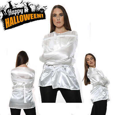 New Halloween Adult Satin Straight Jacket For Men And Women Fancy Dress One Size • 9.99£