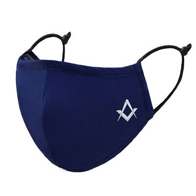 AU19.71 • Buy Freemasons Masonic Reusable 4 Ply Cotton Facemask With Square & Compass