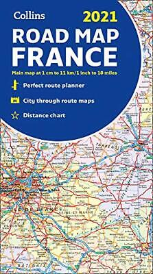 £5.69 • Buy Map Of France 2021: Folded Road Map (Collins Road Atlas) By Collins Maps Book