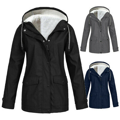 Womens Plus Size Winter Parka Coat With Faux Fur Hood Waterproof Lady • 17.98£