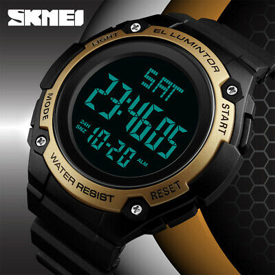$ CDN14.03 • Buy SKMEI Men Sports Watch Women Military PU Strap Digital Watches Waterproof 1346