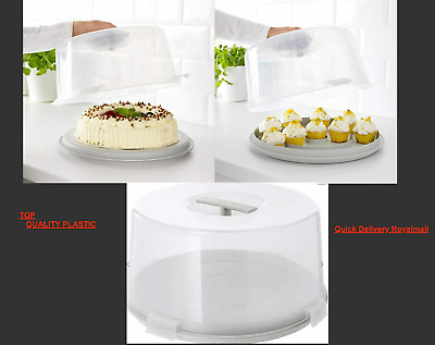 IKEA Cake/muffin Carrier, Lockable Plastic Cake Storage Container With Lid, 36cm • 11.99£