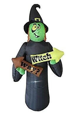 $ CDN57.67 • Buy 8ft Witch Way Witch Halloween Inflatable