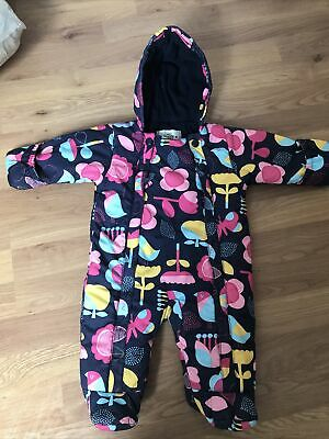 Girls M&S Marks And Spencer Padded Snowsuit/Pramsuit Age 0-3 Months • 4.99£