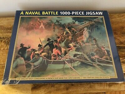 A Naval Battle 1000 Piece Jigsaw Puzzle New And Sealed English And French Navy • 12.99£