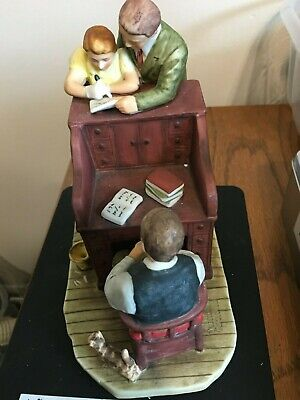 "$ CDN10.38 • Buy Vintage  1982 GORHAM Norman Rockwell  The Marriage License"" Figurine"
