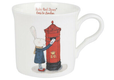 Ruby Red Shoes London Post Box Mug Rabbit Animals Cute Bone China Tea Coffee Cup • 14.85£