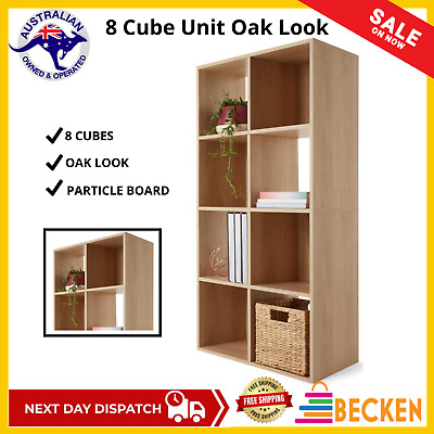 AU63.98 • Buy Natural 8 Cube Unit Book Shelf Case Oak Look Display Storage Living Room Office